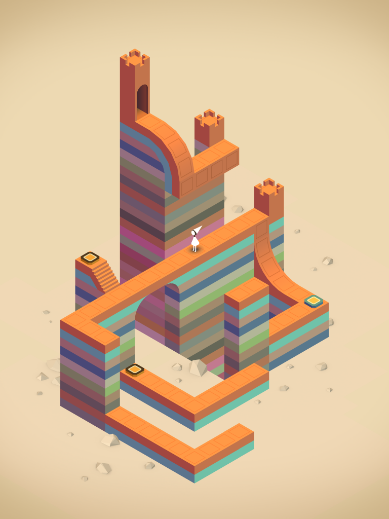 Research Through Gaming blog Monument Valley Game Example