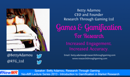 Introduction to Gamification Research: Betty's Guest Lecture on Radio NewMR