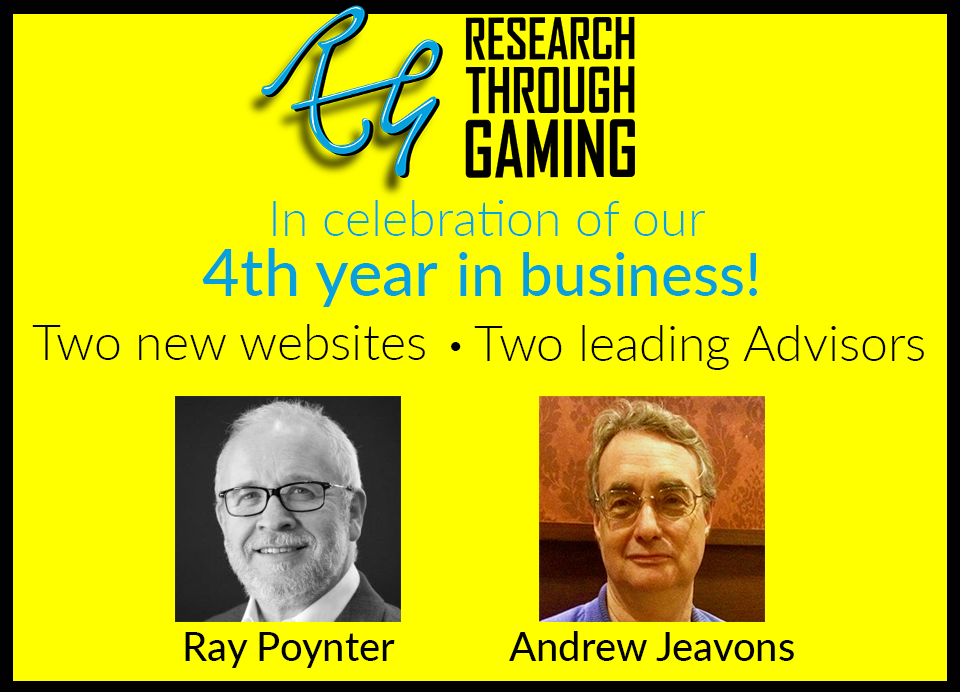 Research-Through-Gaming-Two New Sites Two New Advisors