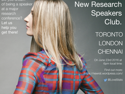 New Research Speakers event in Toronto, London and Chennai