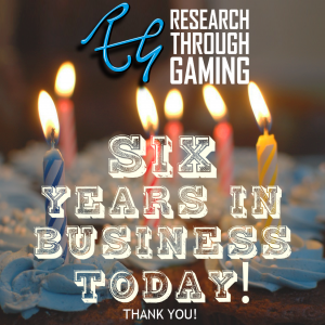 Research Through Gaming six years in business promo image