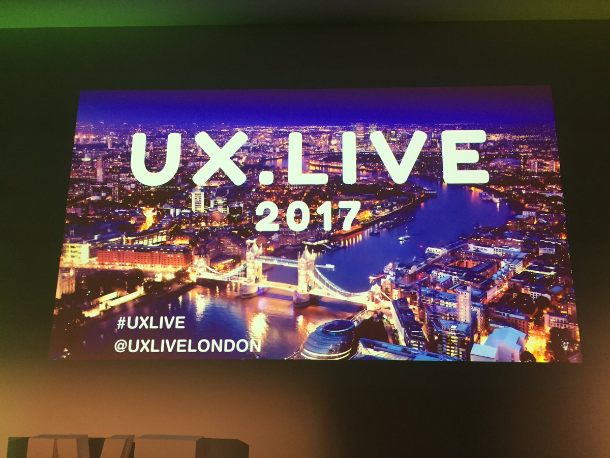 UX Live conference October 2017 London